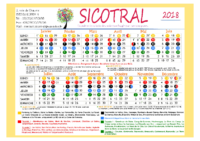 Calendrier SICOTRAL- semaines paires