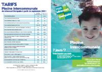 Plaquette d'infos piscine