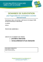 Dossier demande subvention associations (fiches 1-2-3)