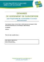 Dossier demande versement subvention associations (fiche 4)