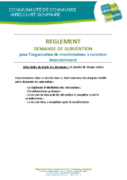 Réglement demande subvention associations