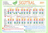 Calendrier SICOTRAL 2019- semaines impaires