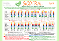Calendrier SICOTRAL 2019- semaines paires