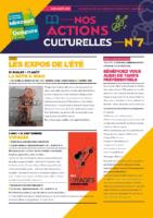 N° 7 Programme actions culturelles juin-août