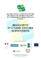 Réglement attribution subvention FISAC