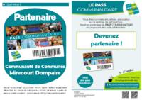 Dépliant partenaires pass communautaire